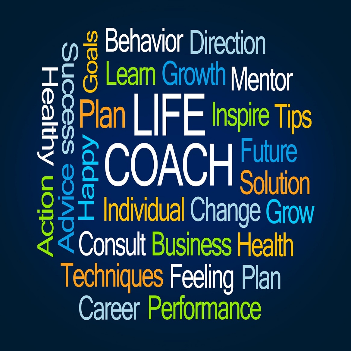 62502488 - life coach word cloud on blue background